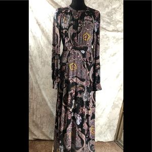 Multi color long dress